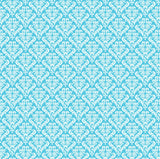 Turquoise and White Damask Rev Paper