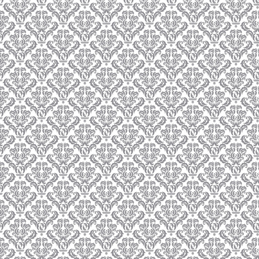 Grey and White Damask Paper