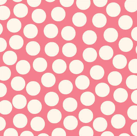 Coral & Ivory Big Dot Reverse