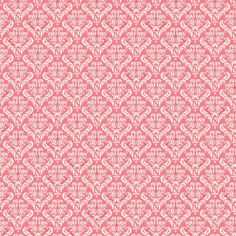 Coral & Ivory Damask Reverse