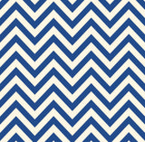 Navy and Ivory Chevron Paper