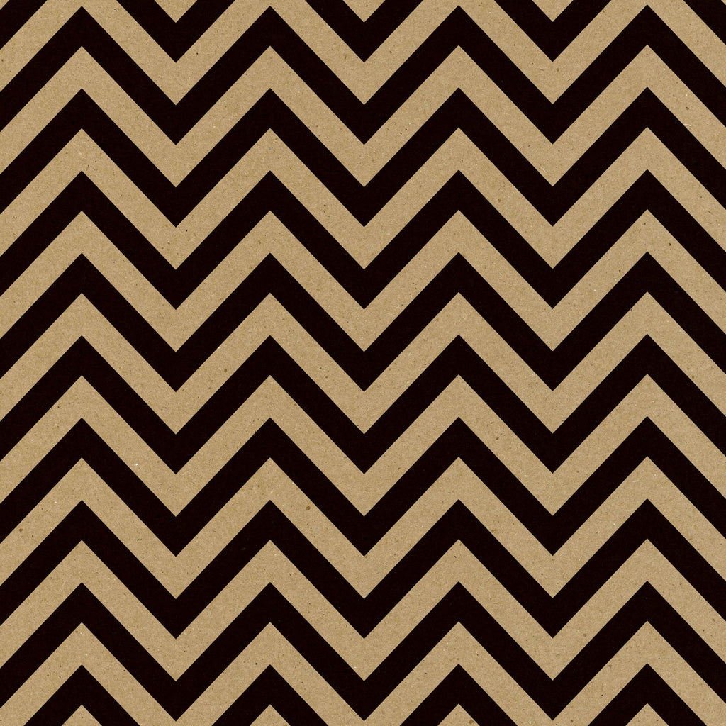 Black & Kraft Chevron