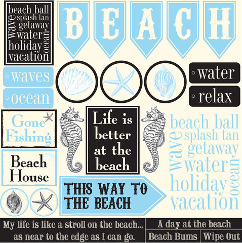 Nautical: Beach Sampler on Ivory Paper