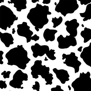 Black and White Cow Paper