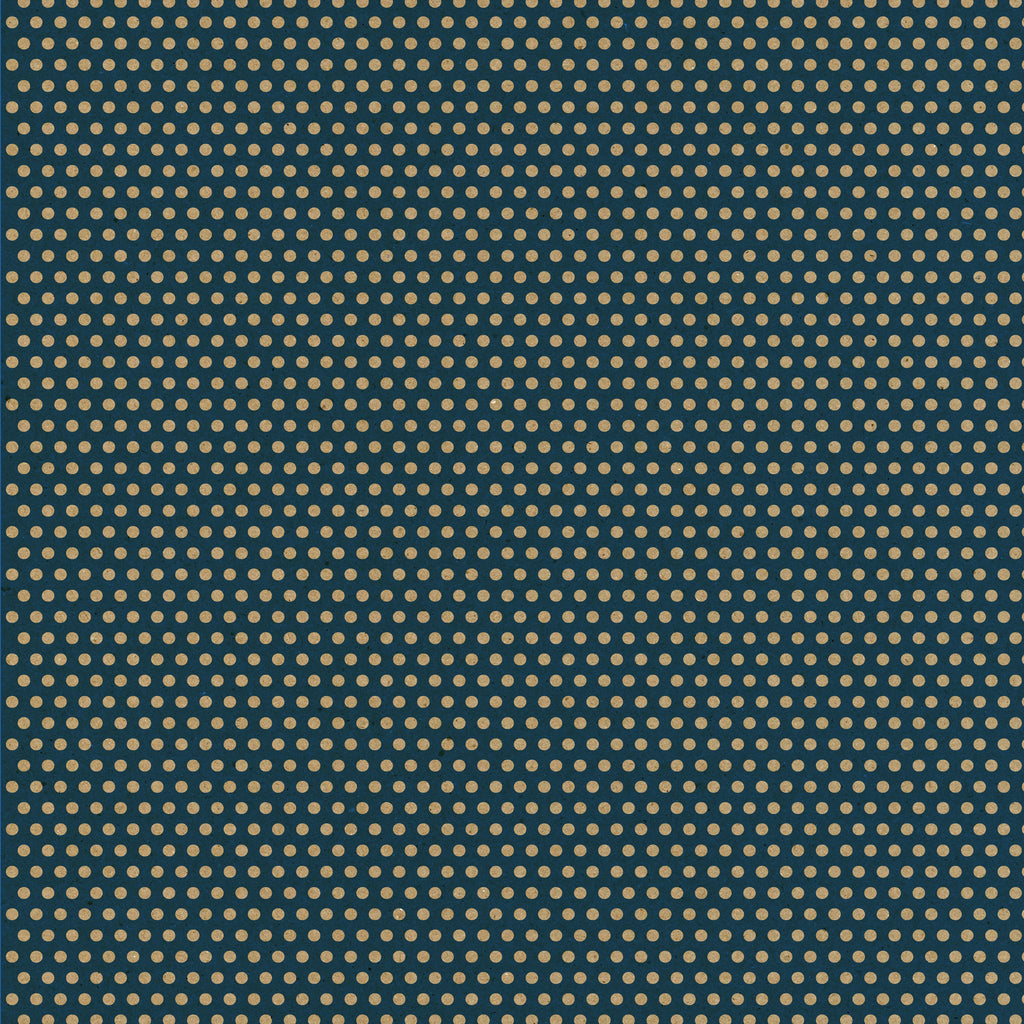 Navy & Kraft Mini Dot Rev Paper