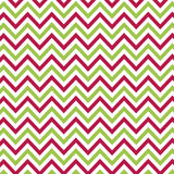 Jolly: Red & Green Mini Chevron on White Paper