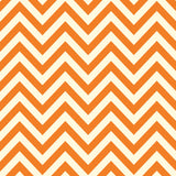 Orange and Ivory Chevron Paper
