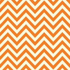 Orange & Ivory Chevron Paper