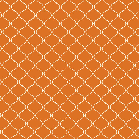 Orange & Ivory Tile Rev Paper