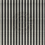 Black and Ivory French Linen Stripe Paper