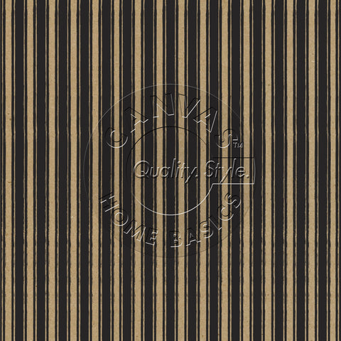 Black and Kraft French Linen Stripe Paper