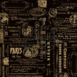 Black and Kraft Paris Reverse Paper