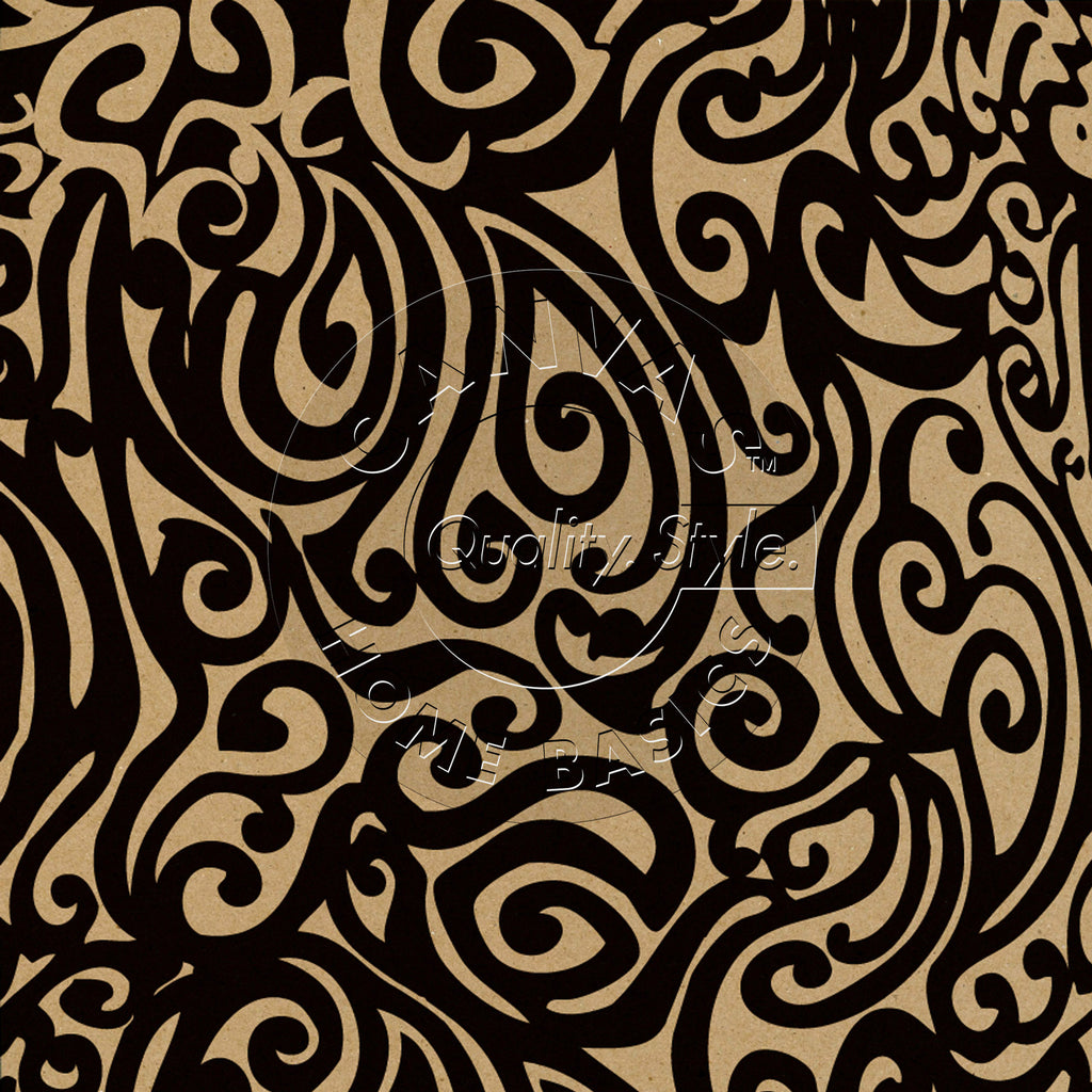 Black & Kraft Swirls