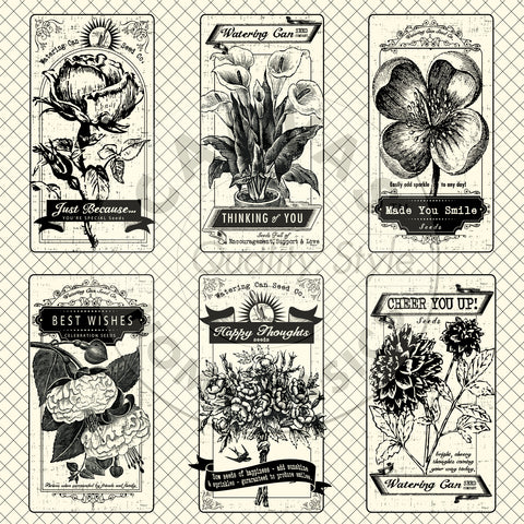 The Watering Can: Seed Packets on Ivory Paper