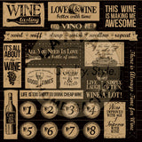 Vino and Ale: Uncorked on Kraft Paper