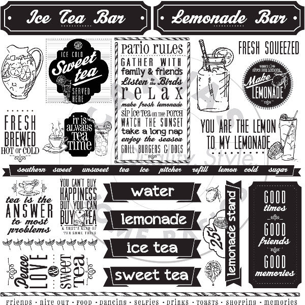 Mixology: Lemonade and Sweet Ice Tea Sayings Paper