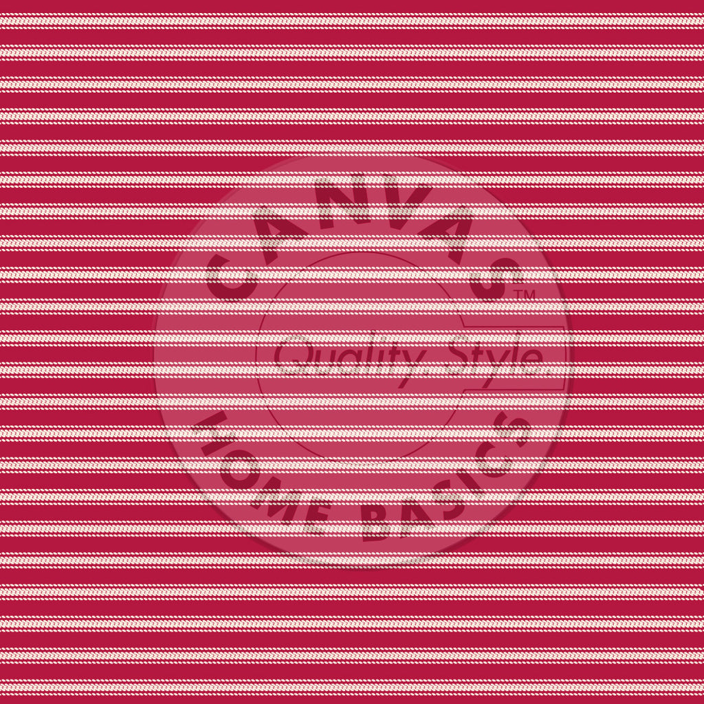 Red and Ivory Ticking Paper