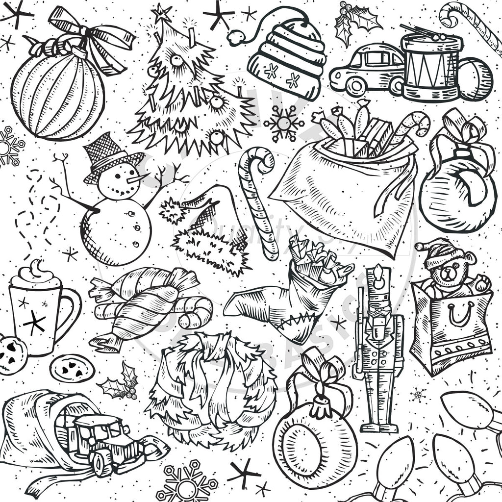 Jolly Christmas on White Paper