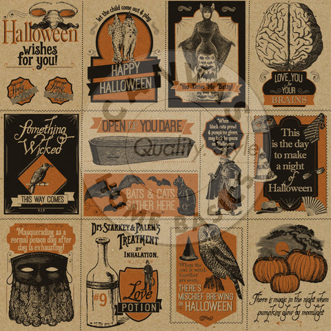 Haunt It Tags on Kraft Paper