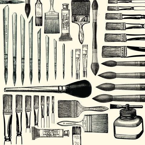 Heirloom Collection:  Brushes on Ivory Paper