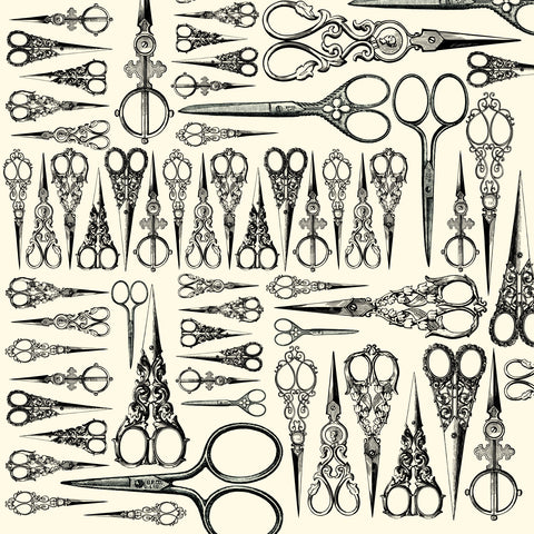 Heirloom Collection:  Scissors on Ivory Paper