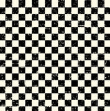 Grunge Check Ivory and Black Paper