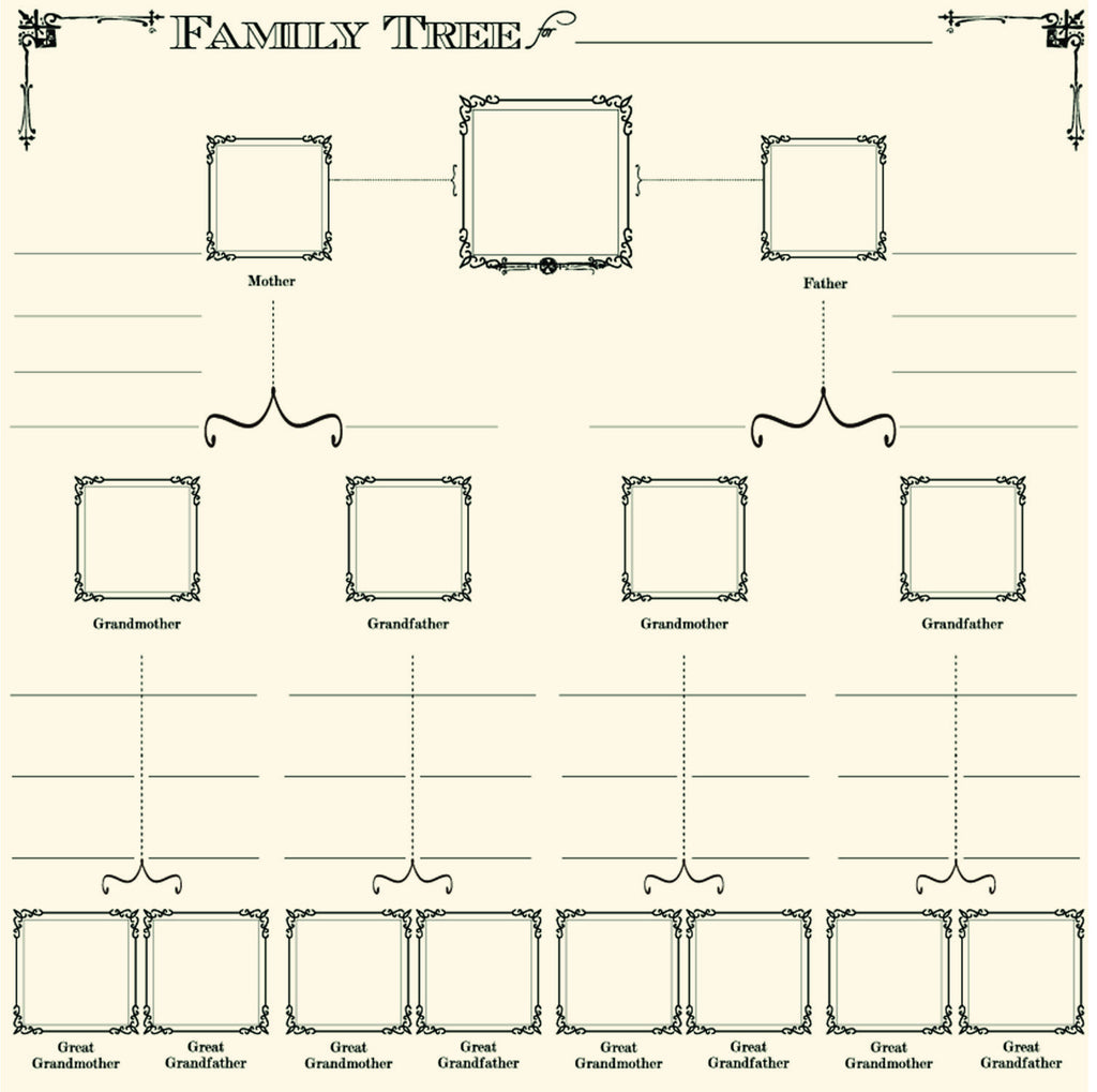 Heirloom Collection:  Family Tree On Ivory Paper