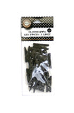 Mini Clothespins- Black (25 pieces)
