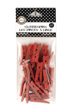 Mini Clothespins- Orange (25 pieces)