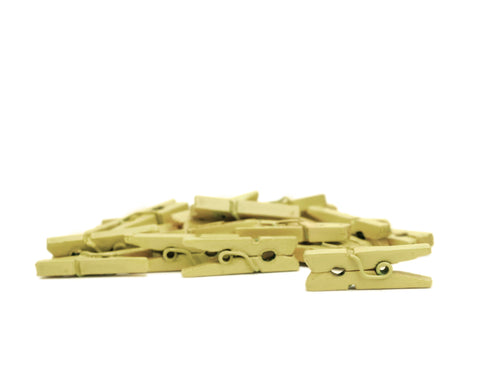 Mini Clothespins - Wheat (25 pieces)