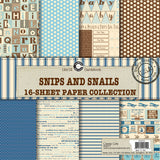 Canvas Corp Snips and Snails (Baby Boy) Paper Collection