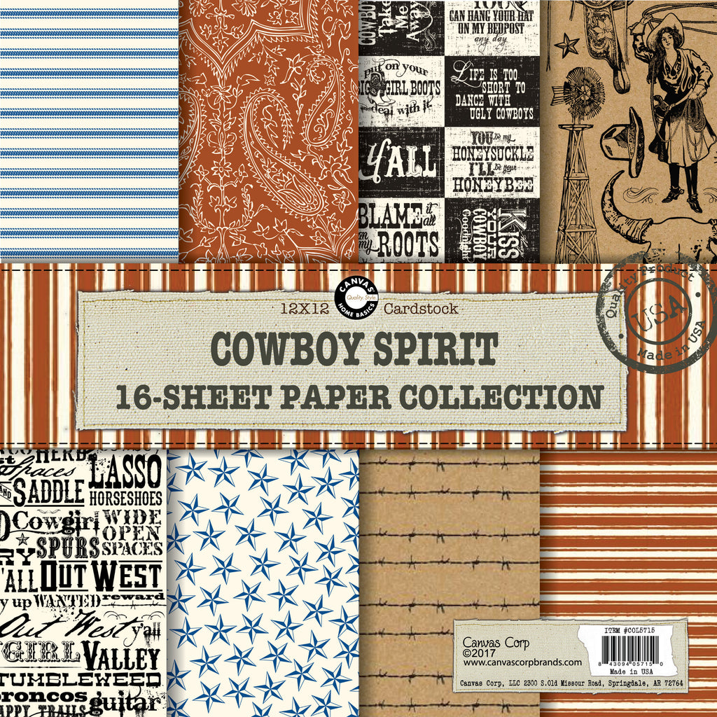 canvas corp cowboy spirit western paper collection canvas corp brands