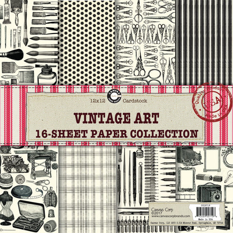 Canvas Corp Vintage Art Paper Collection