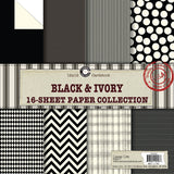 Canvas Corp Black and Ivory Paper Collection