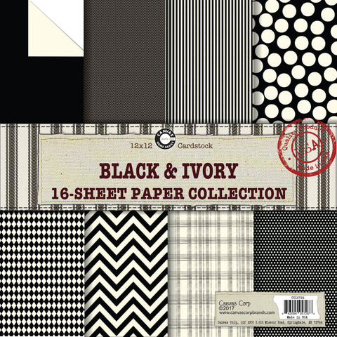 Black and Ivory Paper Collection