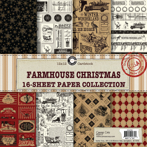 Canvas Corp Farmhouse Christmas Paper Collection