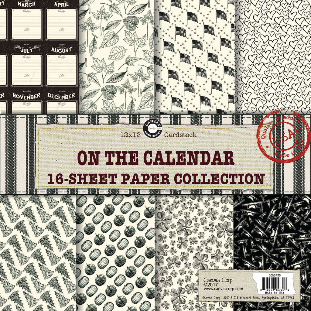 Canvas Corp On the Calendar Paper Collection