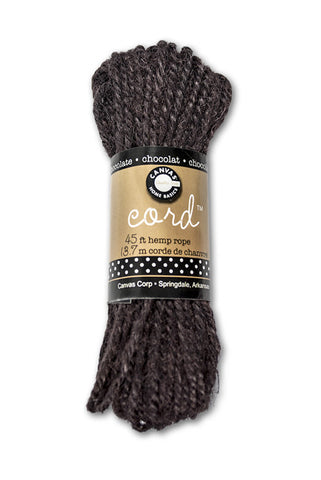Cord - Hemp Rope Chocolate 45'