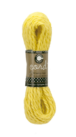 Cord - Hemp Rope Hank - Yellow 45'