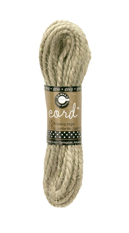 Cord - Hemp Rope - grey 45'