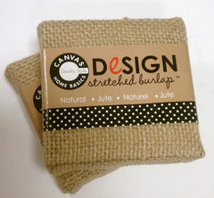 Stretched Natural Burlap - 3 x 3