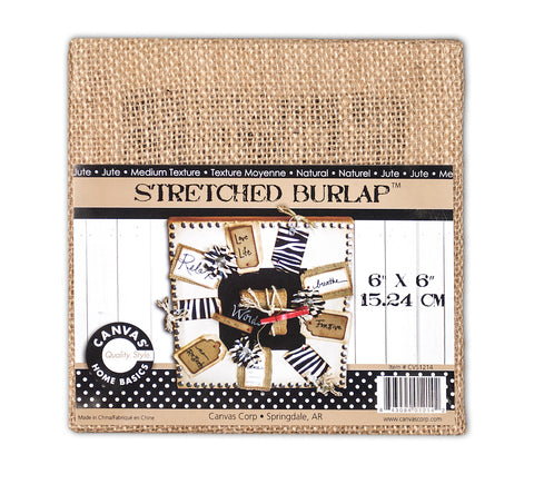 Stretched Burlap - 6 x 6 Chunky