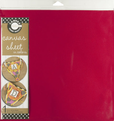 12x12 Canvas Sheet - Red