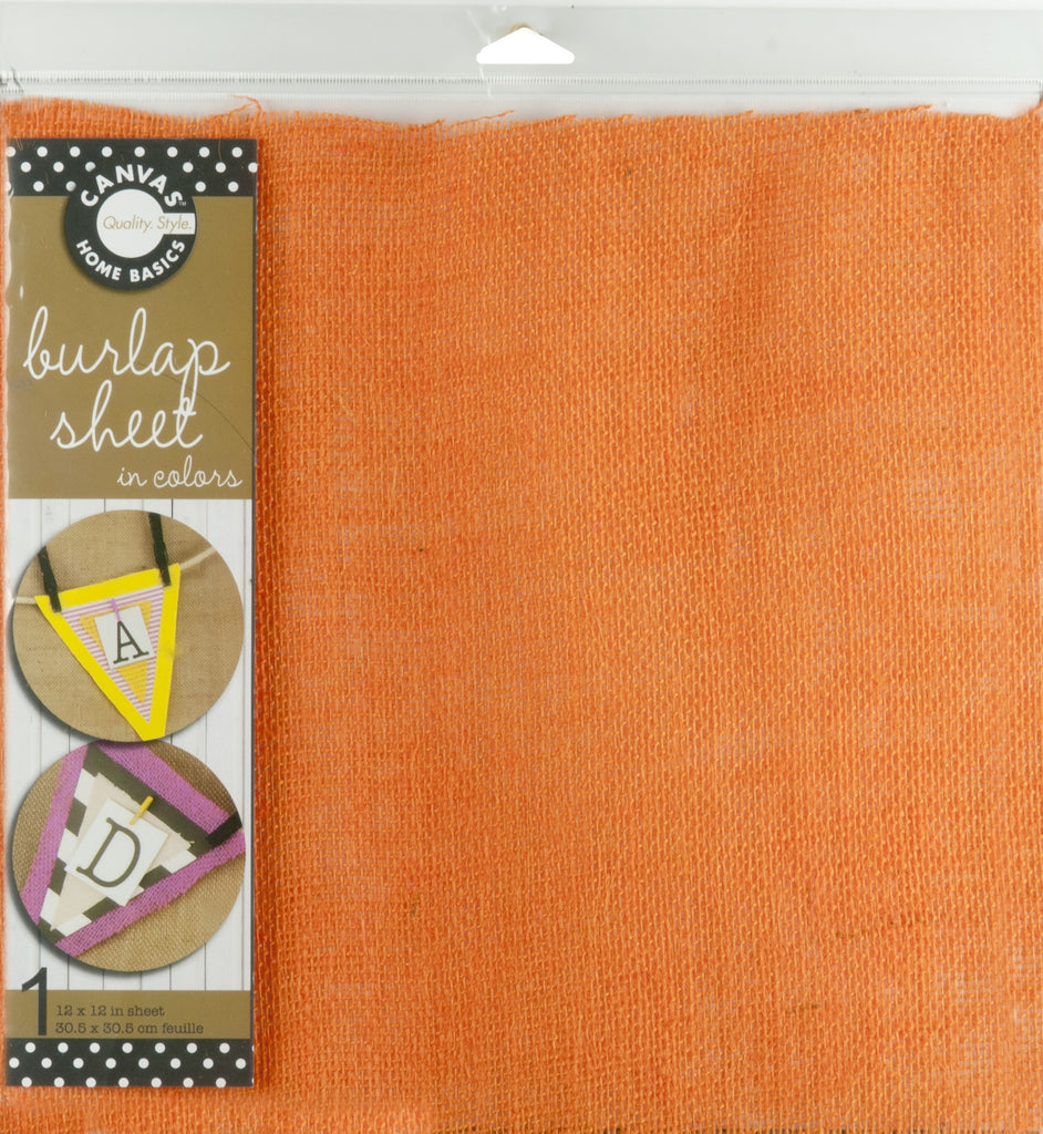 12 x 12 Burlap Sheet - Orange
