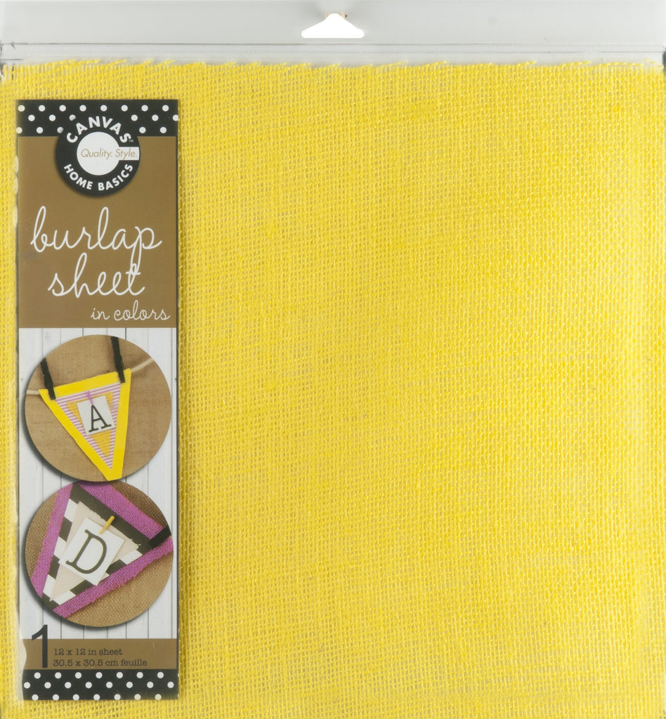 12x12 Burlap Sheet - Yellow