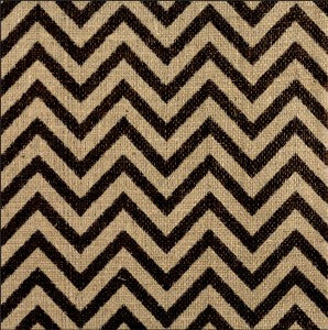 12 x 12 Printed Burlap Sheet - Chevron