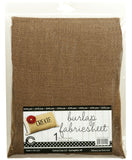 "Burlap Fabric - 30""x36"" - Chocolate"