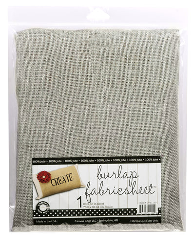 "Burlap Fabric - 30""x36"" - Grey"