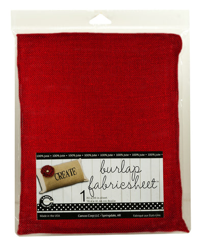 "Burlap Fabric - 30""x36"" - Red"