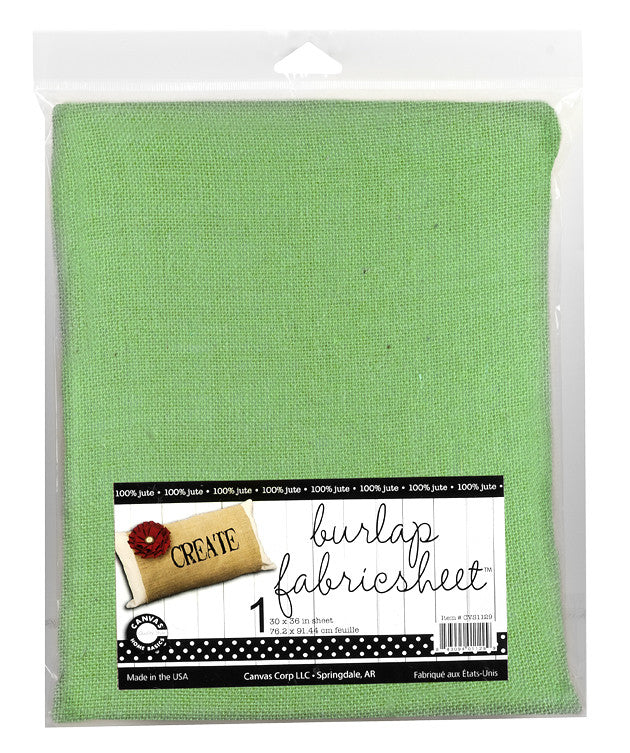 "Burlap Fabric - 30""x36"" - Green"